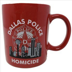 DALLAS POLICE DEPT. HOMICIDE UNIT Red Coffee Mug